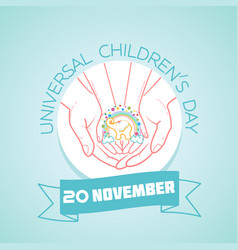 20 november universal childrens day vector image