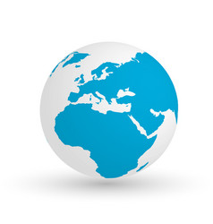 3d earth globe eps10 of vector image