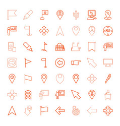 49 pointer icons vector image