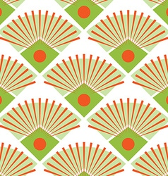 Abstract peacock tail seamless pattern vector