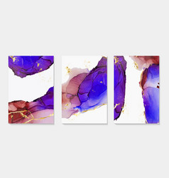Alcohol ink paint abstract shapes closeup vector