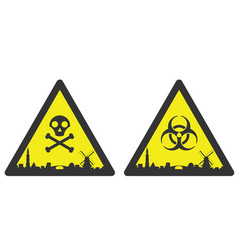 amsterdam danger emergency biological hazard vector image