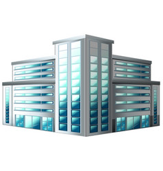 architecture design for office building vector image