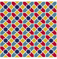 Background with seamless pattern in colorful vector