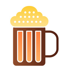 beer mug flat icon beverage color icons in trendy vector image