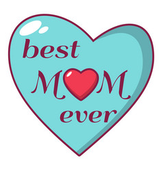 best mother icon cartoon style vector image