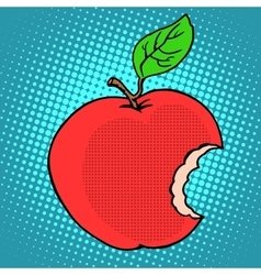 Bitten red Apple vector