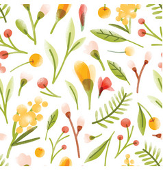botanical seamless pattern with translucent vector image