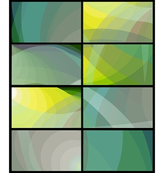Business card in shades green and grey vector