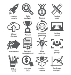 Business management icons Pack 28 vector
