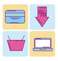 buy online digital shopping ecommerce market vector image