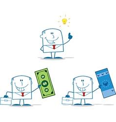Cartoon businessman vector