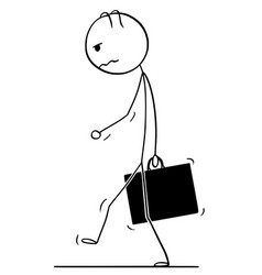 Cartoon of sad or depressed man or businessman vector