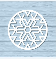 Christmas snowflake ornament vector