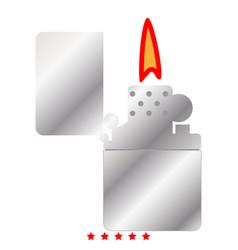 cigarette lighter icon color fill style vector image