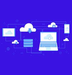 cloud storage for downloading digital service vector image