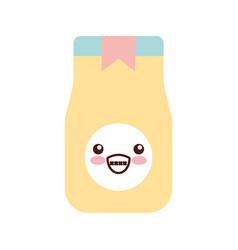coffee toast bag kawaii character vector image