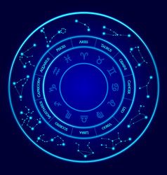 constellations set twelve signs the vector image