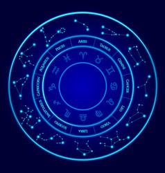 Constellations set twelve signs vector