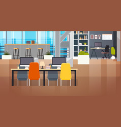 coworking space interior modern coworking office vector image