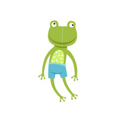 cute soft frogling plush toy stuffed cartoon vector image