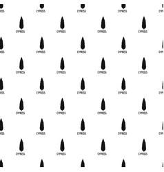 cypress tree pattern seamless vector image