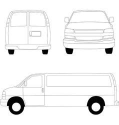 Delivery van lines vector image