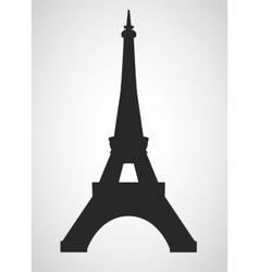Eiffel black vector image