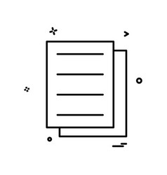 files document icon design vector image