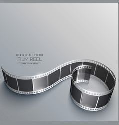 Film reel with shadows vector