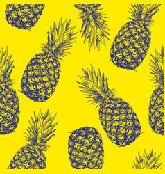 fruit pineapple seamless texture wallpaper vector image