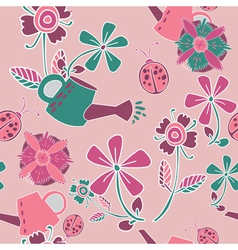 garden patterns background vector image