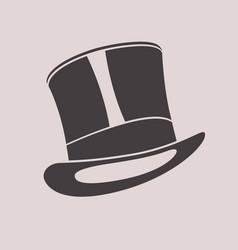 Gentleman vintage top hat cylinder hat vector