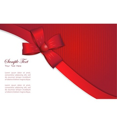 Gift card design vector image