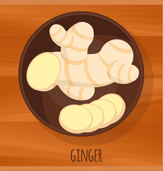 Ginger icon vector