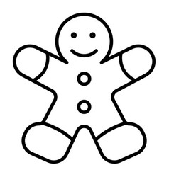 Gingerbread man icon outline style vector