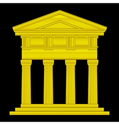 Gold doric temple vector