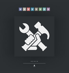 Hammer and wrench vector