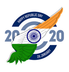 Happy republic day 26th january greeting card vector