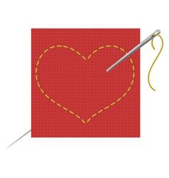 Heart needle vector