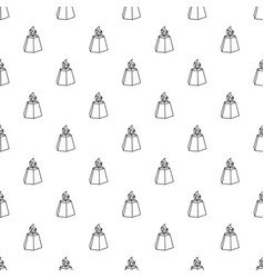 hexagon candle pattern seamless vector image