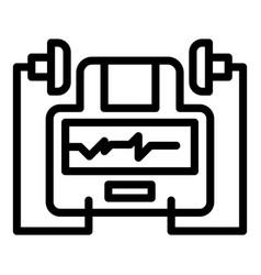 Hospital defibrillator icon outline style vector