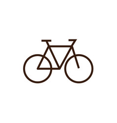 Isolated cycle icon line and fill design vector