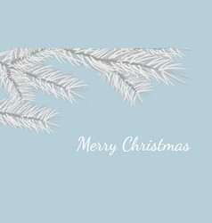 merry christmas greeting card design invitation vector image