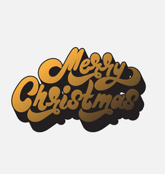merry christmas handwritten lettering made in 90s vector image