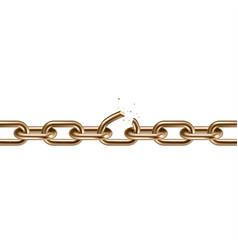 metal golden broken chain 3d freedom concept vector image
