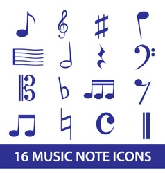 music note icon set eps10 vector image