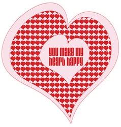My Heart Happy vector