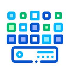 networking artificial big data center icon vector image