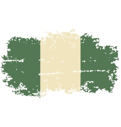 Nigerian grunge flag vector